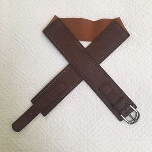 Brown Accent Belt from The Limited